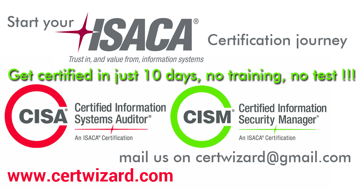 ISACA CISM without Training, Study Guide or Test