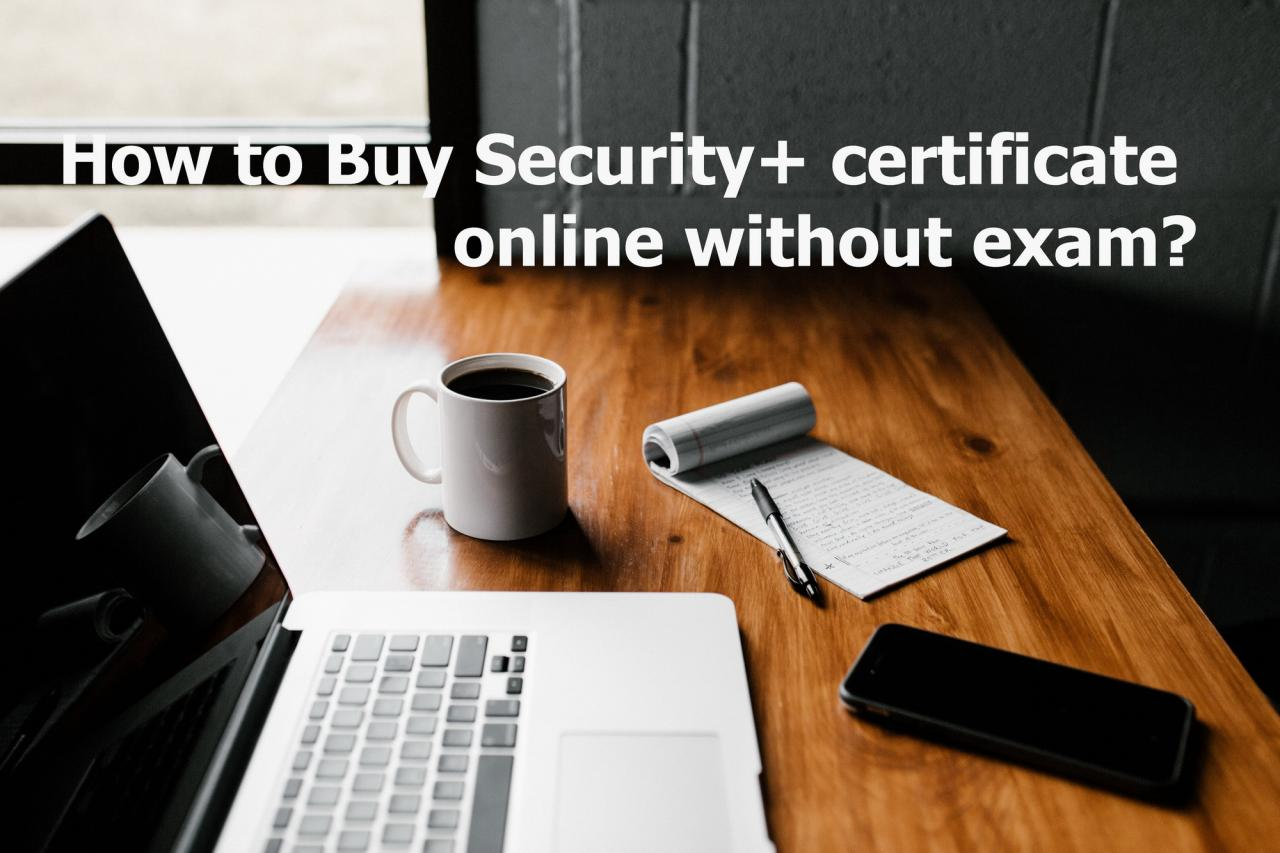 buy Security+ certificate online without exam