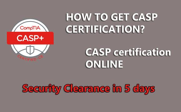 CompTIA CASP for a DoD Security Clearance